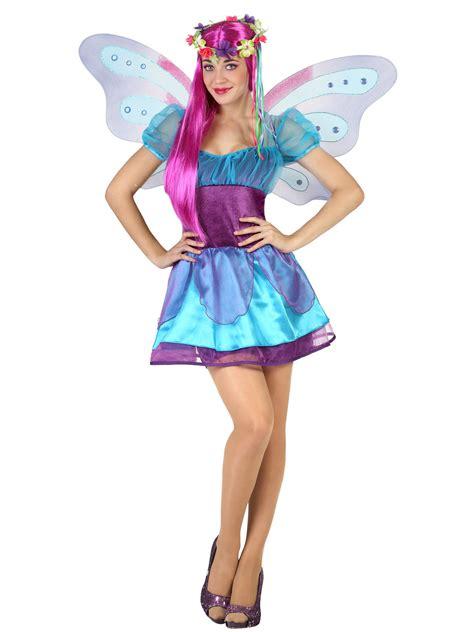 suesse fee damenkostuem elfe maerchen blau lila guenstige faschings kostueme bei karneval megastore