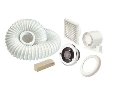 ledslktc showerlite 100mm in line axial shower fan kit