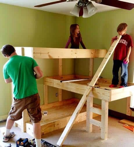 diy  level bunk bed