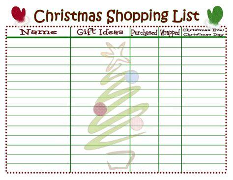 christmas list doc shopping list printable on timeout