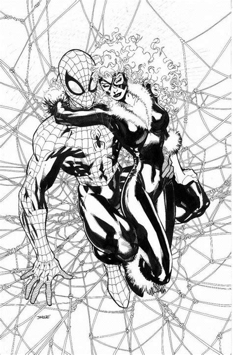 spider manblack cat comic art community gallery