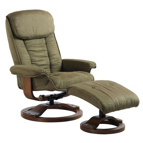 Microfiber Chair And Ottoman by Comfort Chair Collection Microfiber Swivel Recliner With