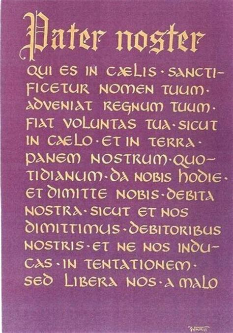 pater noster prayer 296 best images about catholic prayers on mercy novena prayers and the memorare