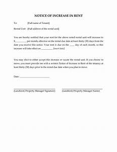 10 best images of rent due notice template past due rent With rent increase notice template