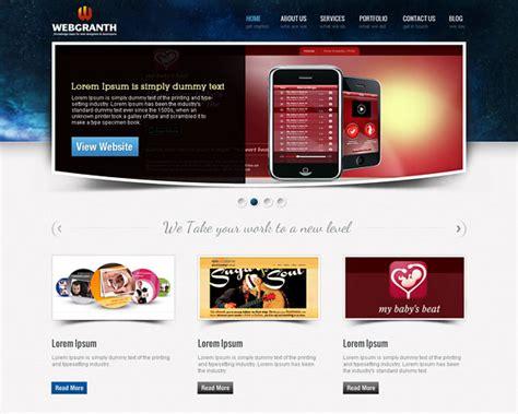 free web design web design development psd template free psd