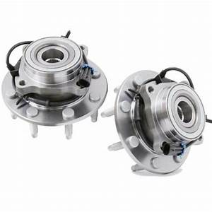 2 Front Wheel Bearing  U0026 Hub Assembly For Chevy Silverado