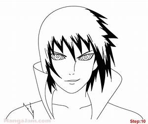 How to Draw Sasuke Rinnegan from Naruto - Mangajam.com