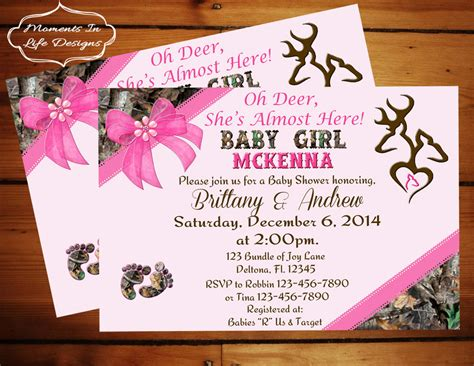 peek  boo camo baby shower invitation girlgirl camo