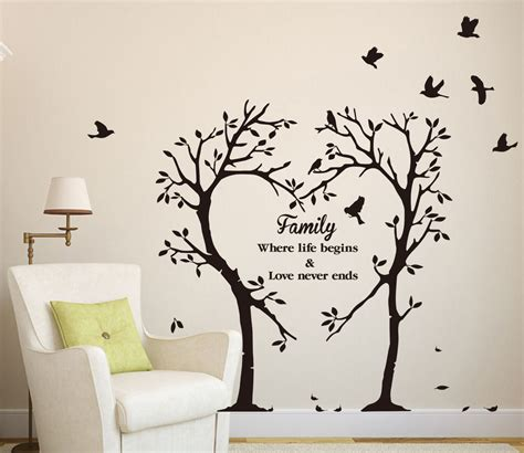 large family inspirational love tree wall art sticker wall sticker decal