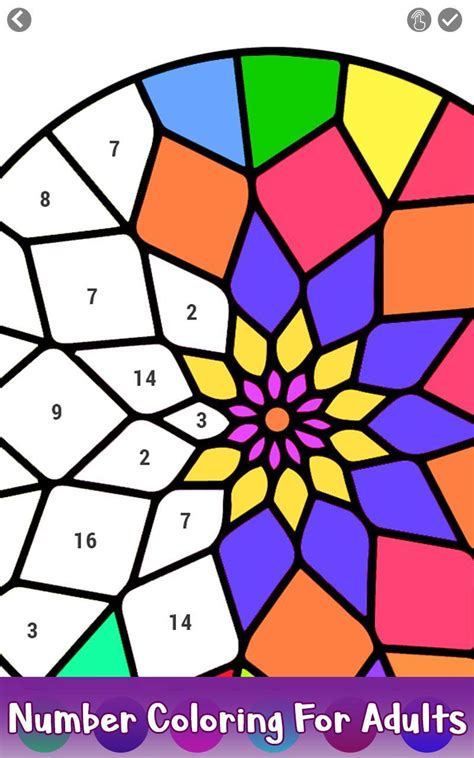 adult color  number book paint mandala pages