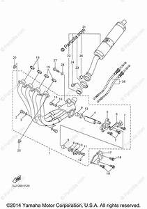 Yamaha Motorcycle 2000 Oem Parts Diagram For Exhaust