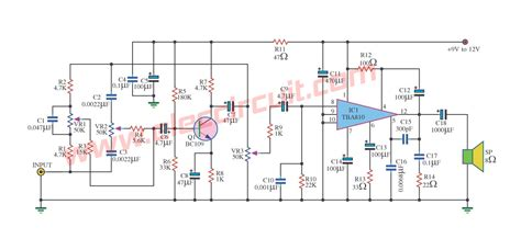 Small Power Amplifier Circuits For Speaker