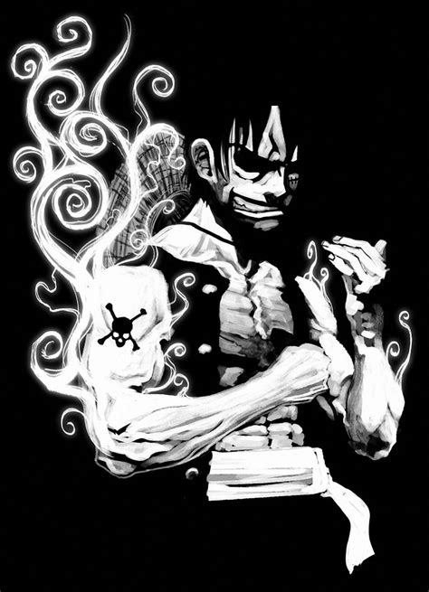 black  white  piece monkey  luffy