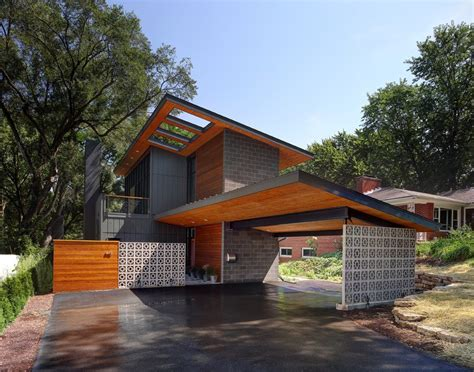 barn wood wall log carport garage contemporary with shed roof stainless