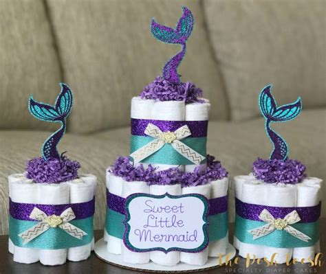 Purple And Teal Baby Shower Decorations by Mermaid Cake Purple Teal Gold The Sea