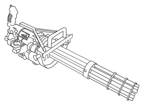 Chain Gun Lineart By Dkim699531 On Deviantart