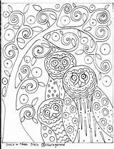 Rug Karla Hooking Gerard Folk Patterns Tree Coloring Primitive Pattern Paper Owls Craft Hook Coloriage Yahoo Embroidery Owl Abstract Dessin sketch template