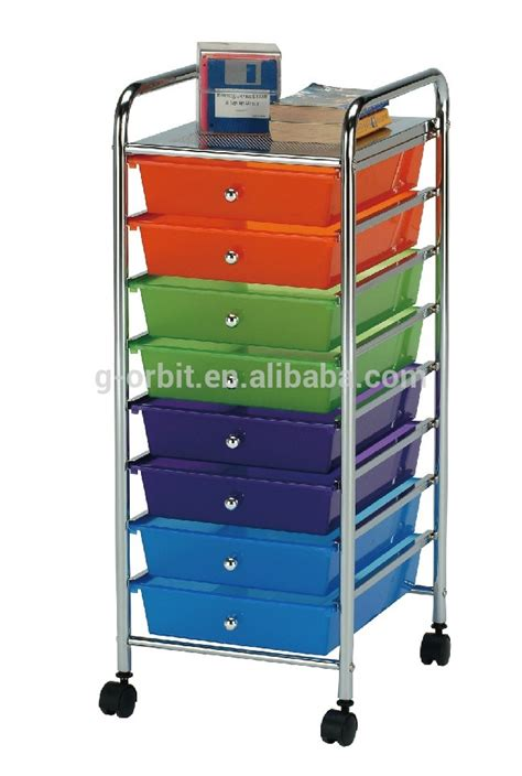plastic storage drawers on wheels colorful 4 tier plastic storage trolley with drawers space