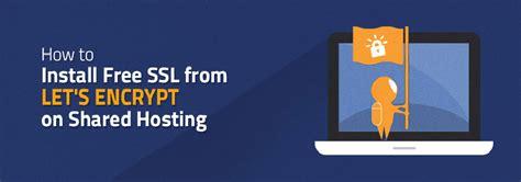 install  ssl  lets encrypt  shared hosting