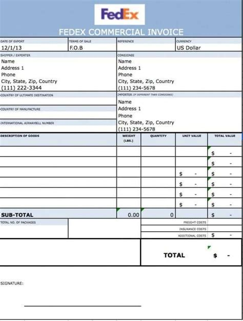 21 free commercial invoice template word excel formats