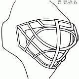 Goalie Coloring Mask Pages Luchador Hockey Masks Template Drawing Sketch sketch template