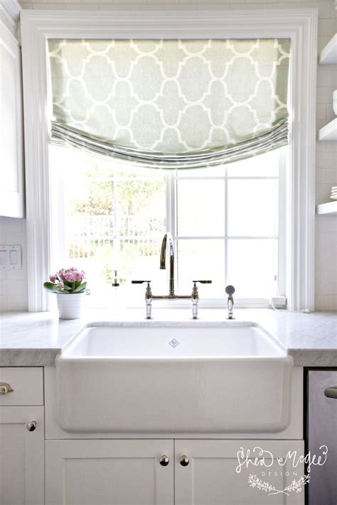 kitchen window treatments inspired by fabric shades the inspired room