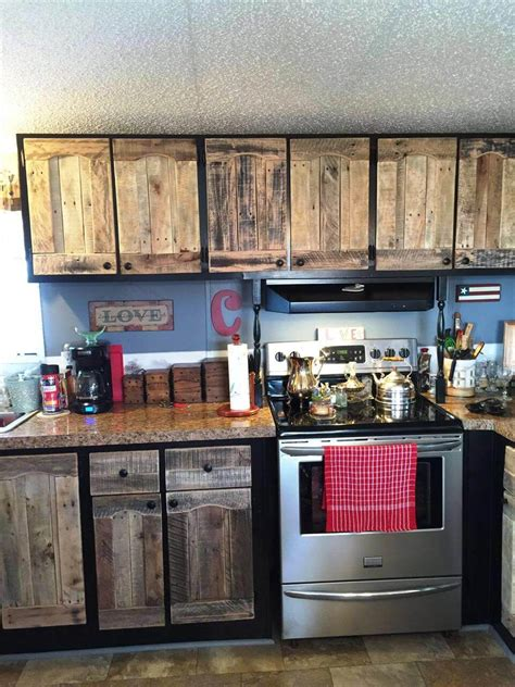 Kitchen Cabinet Doors From Pallets by Kitchen Cabinets Using Pallets Easy Pallet Ideas