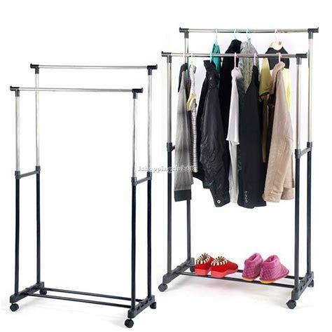 hanging clothes rack rod garment rack rolling bar rail rack hang clothes