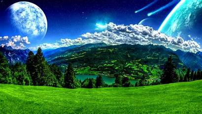 Landscape Landscapes Space Outer Wallpapersafari Moon