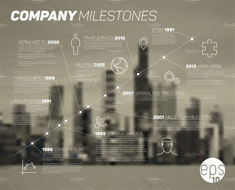 company timeline template layout  templates