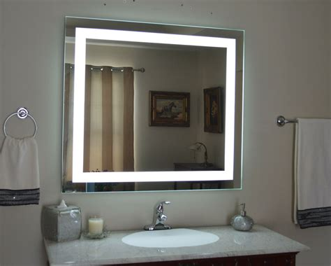 lighted bathroom vanity mirror led wall mounted