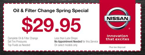 51870 Nissan Of Coupons by Find Nissan Service Specials Nissan Incentives Near