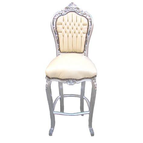 chaise de bar cuir chaise de bar de style baroque tissus simili cuir beige et