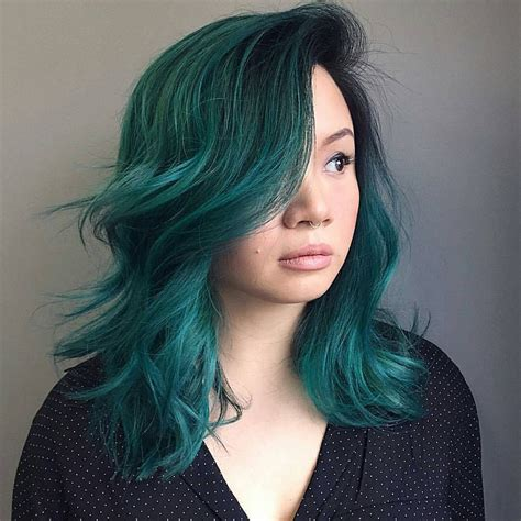 Hair Colors For With Green by Pin By Joico On Color Intensity Peacock Green Hair