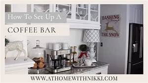HOME ORGANIZATION How To Set Up A Home Coffee Bar YouTube