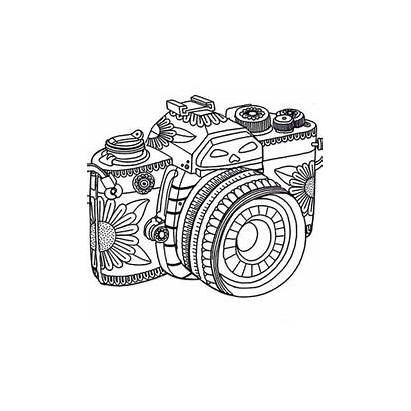 Coloring Pages Printable Camera Adults Adult Designs