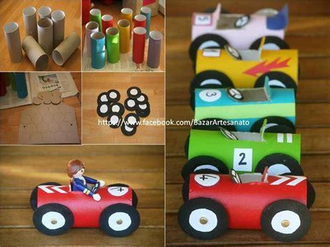 recyclage rouleaux papier toilette en voitures bricolage rouleaux papier toilette