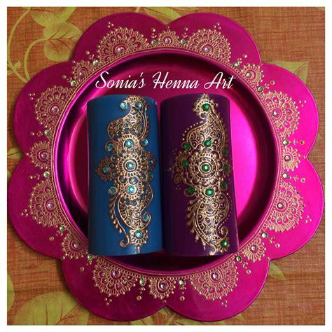 Creative Candles Decoration Ideas F40456 by Crafts Mehndi Unique Decor Idea Henna Candle