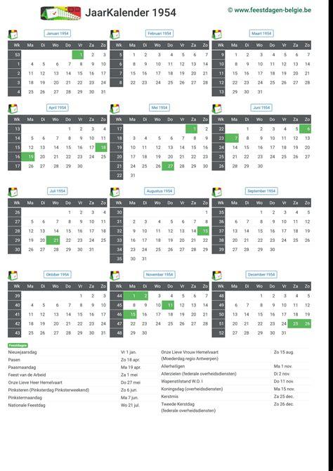 kalender jaarkalender belgie verlengde weekends