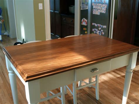 custom solid wood island top face grain afromosia