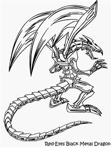 Yugioh Coloring Pages yugioh red eyes black dragon ...