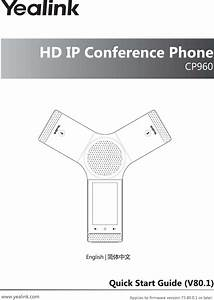 Yealink Cp960 Hd Ip Conference Phone User Manual T2c Cp960