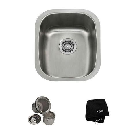 18 gauge stainless steel sink kraus 15 in undermount single bowl 18 gauge stainless