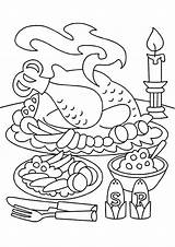 Thanksgiving Coloring Pages Dinner Turkey Feast Sheets Printable Meal Table Fall Drawing Makeup Crafts Thanks Printables Colouring Adult Disney Getcolorings sketch template