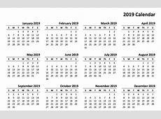 Blank Calendar 2019 With Printable Templates Online Home