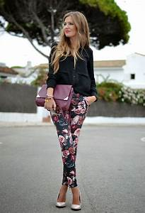 Feminine Floral Trousers/Leggings Your Essential Fashion Choice For 2014 - Just The Design