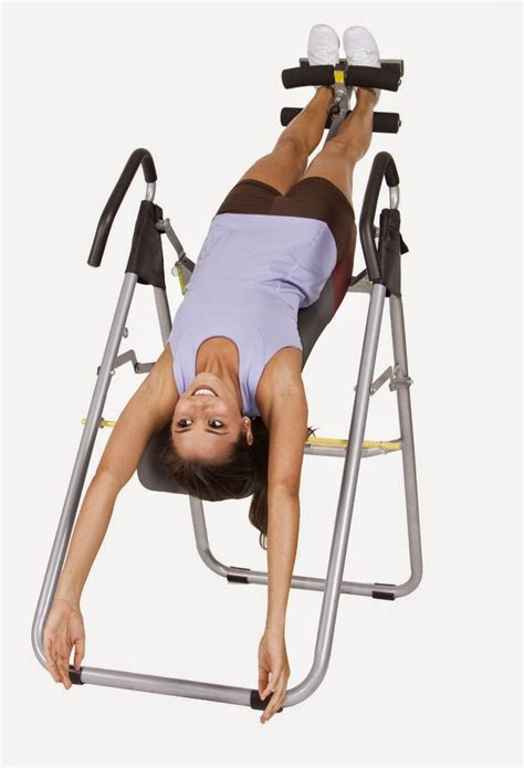 benefits of using inversion table health and fitness den elongate the spine relieve back