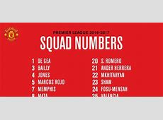 Premier League Man United share squad numbers with Pogba