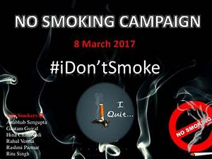 No Smoking Campaign #iDon'tSmoke