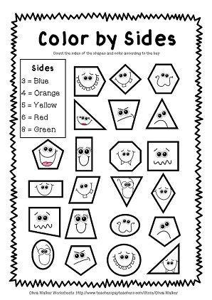 Best 25+ Geometry Worksheets Ideas On Pinterest  Kindergarten Shapes, 3d Shape Properties And